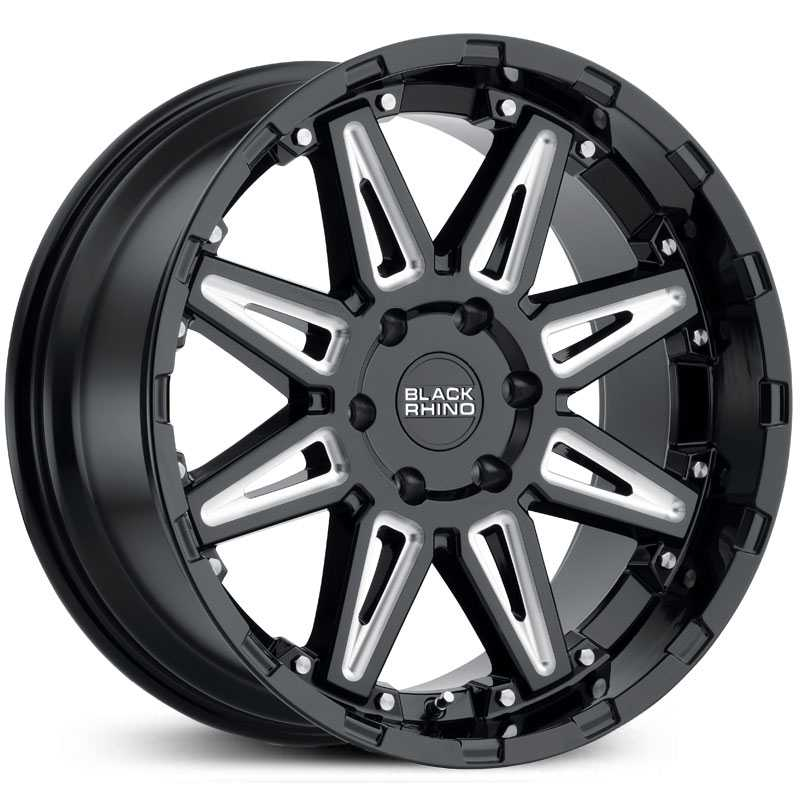 Black Rhino Rush  Wheels Gloss Black Milled Spokes