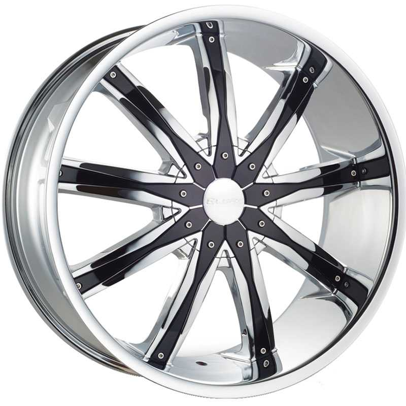 Elure 020  Wheels Chrome w/ Black Inserts