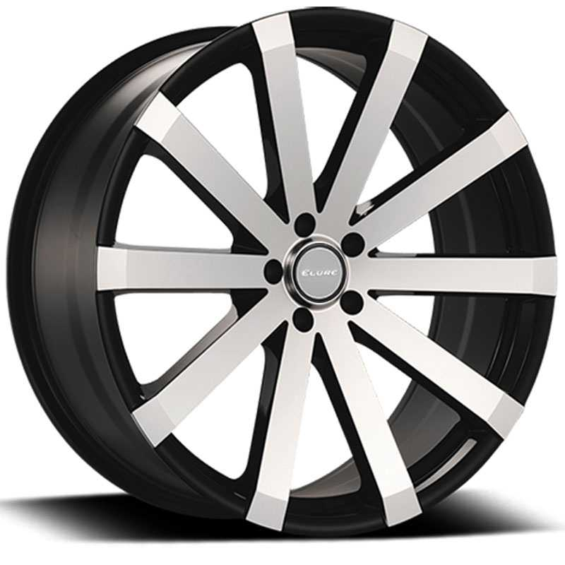 Elure 037  Wheels Black w/ Machined Face 5 Lug