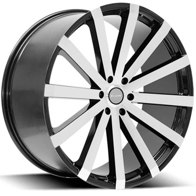 Elure 037  Wheels Black w/ Machined Face 6 Lug