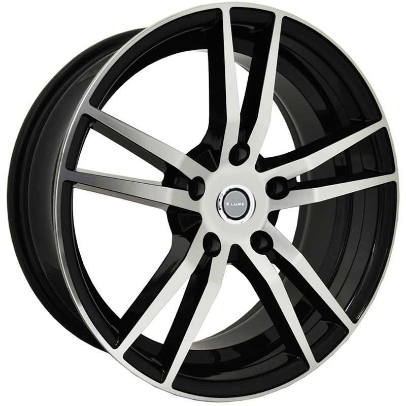 Elure 041  Wheels Black Machined Face w/ Undercut Lip