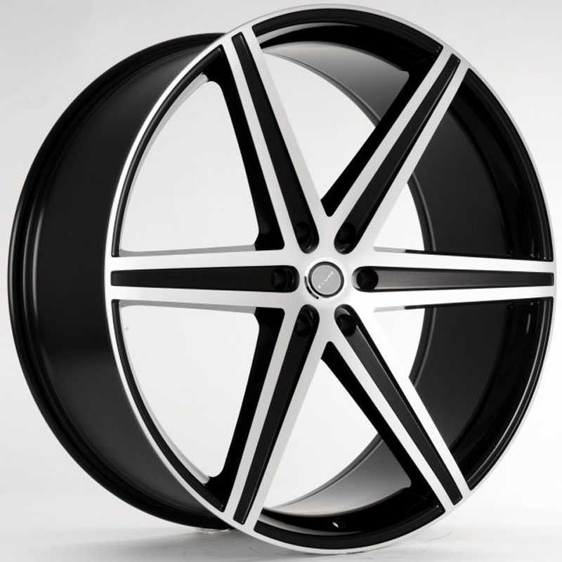 Elure 044  Wheels Black w/ Machined Face 6 Lug