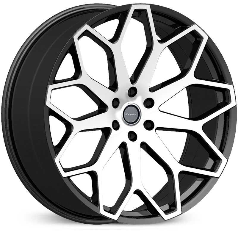Elure 046  Wheels Black w/ Machined Face