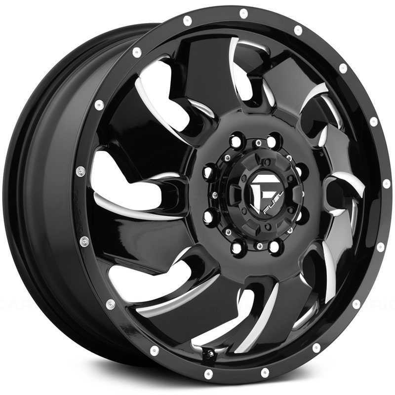D574 Cleaver Dually Gloss Black Milled (Front)