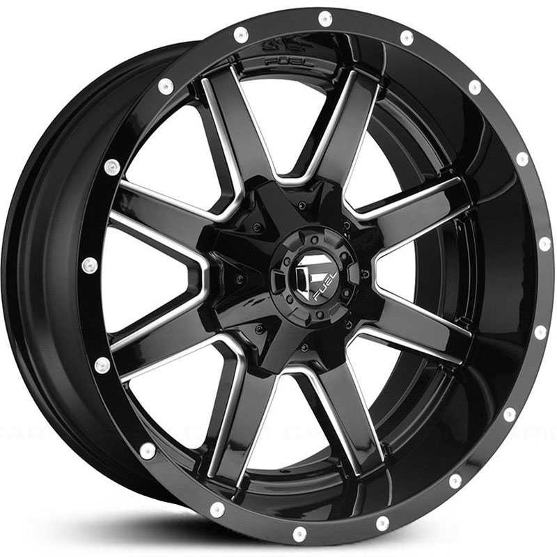 Fuel D610 Maverick  Wheels Gloss Black Milled
