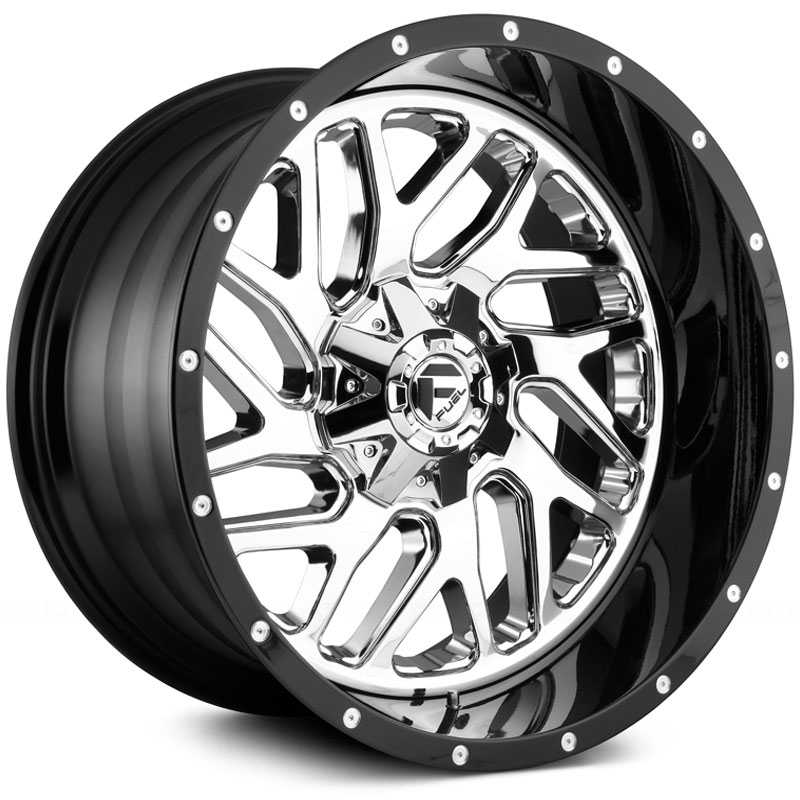 Fuel D211 Triton  Wheels Chrome w/ Gloss Black Lip