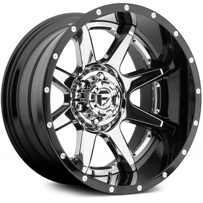 Fuel D247 Rampage  Wheels Chrome w/ Gloss Black Lip