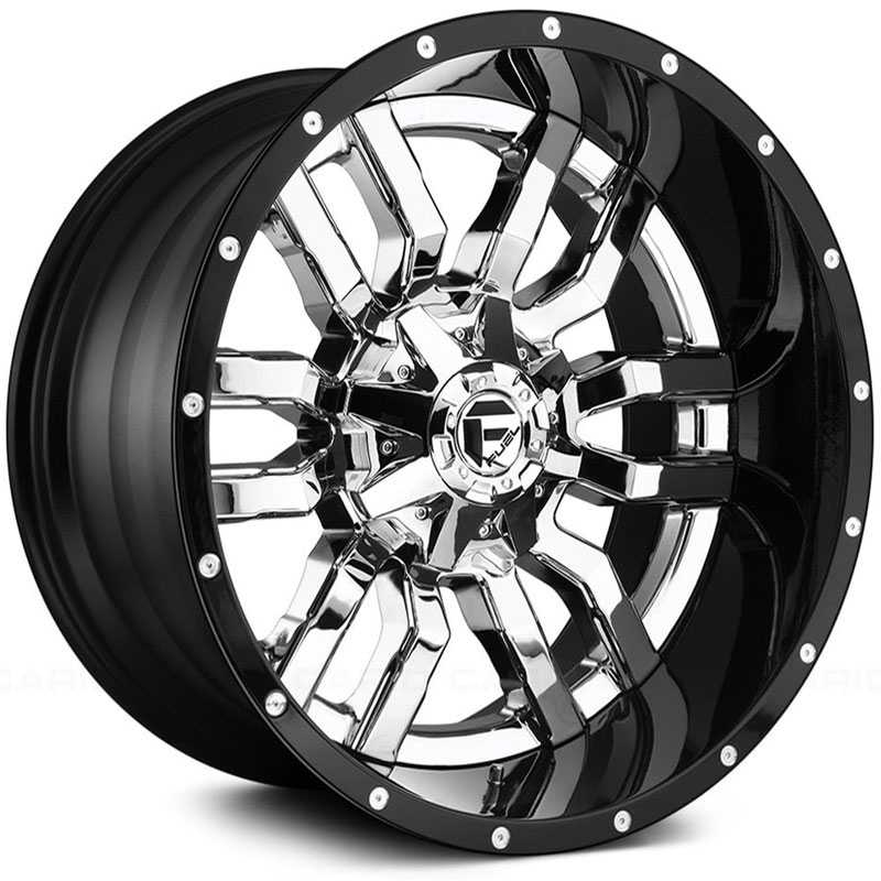 Fuel D270 Sledge  Wheels Chrome w/ Gloss Black Lip