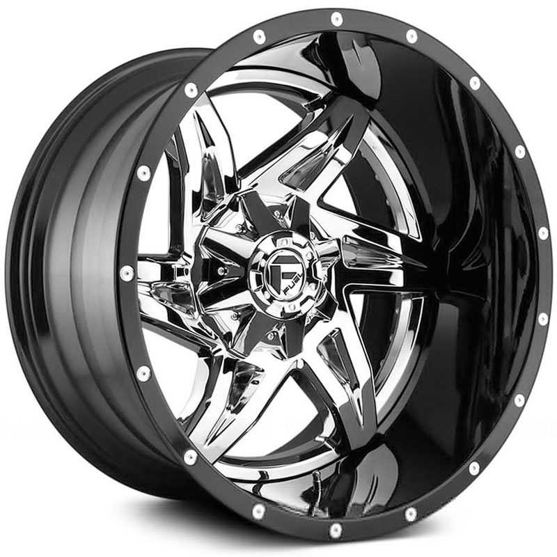 Fuel D272 Rocker  Wheels Chrome w/ Gloss Black Lip