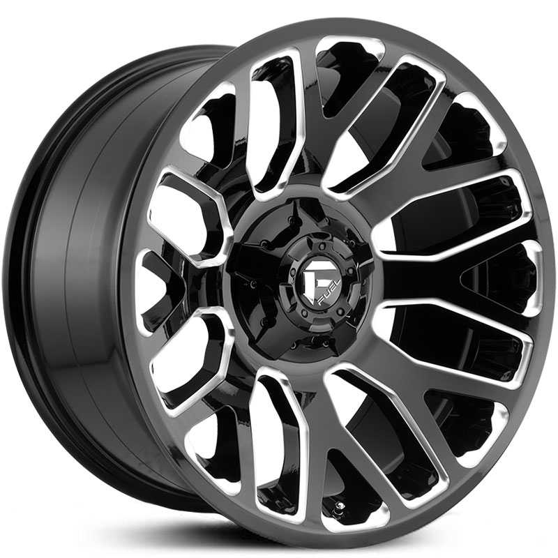 Fuel D607 Warrior  Wheels Gloss Black Milled