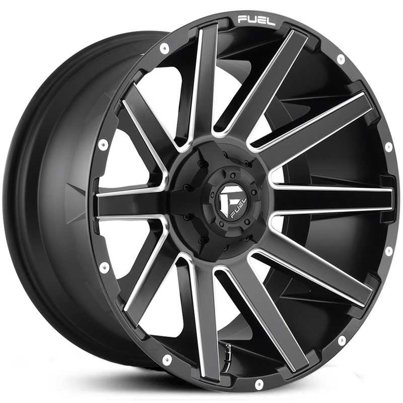 Fuel D616 Contra  Wheels Matte Black Milled