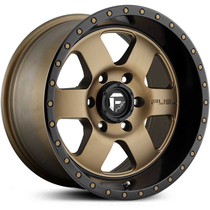 Fuel D617 Podium  Wheels Matte Bronze w/ Black Lip