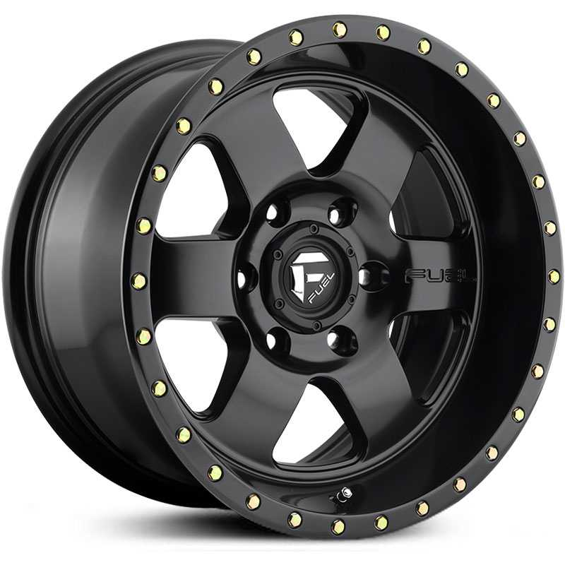 Fuel D618 Podium  Wheels Matte Black w/ Black Lip