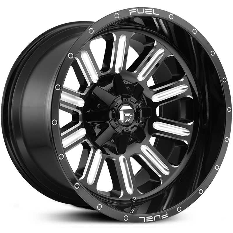Fuel D620 Hardline  Wheels Gloss Black Milled