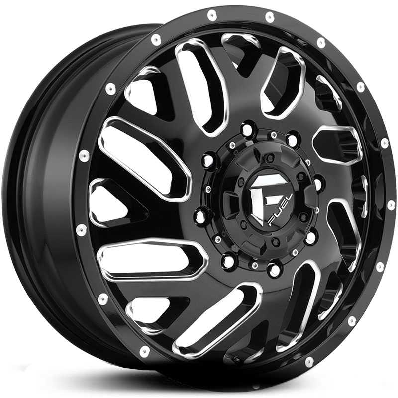 D581 Triton Dually Gloss Black & Milled (Rear)