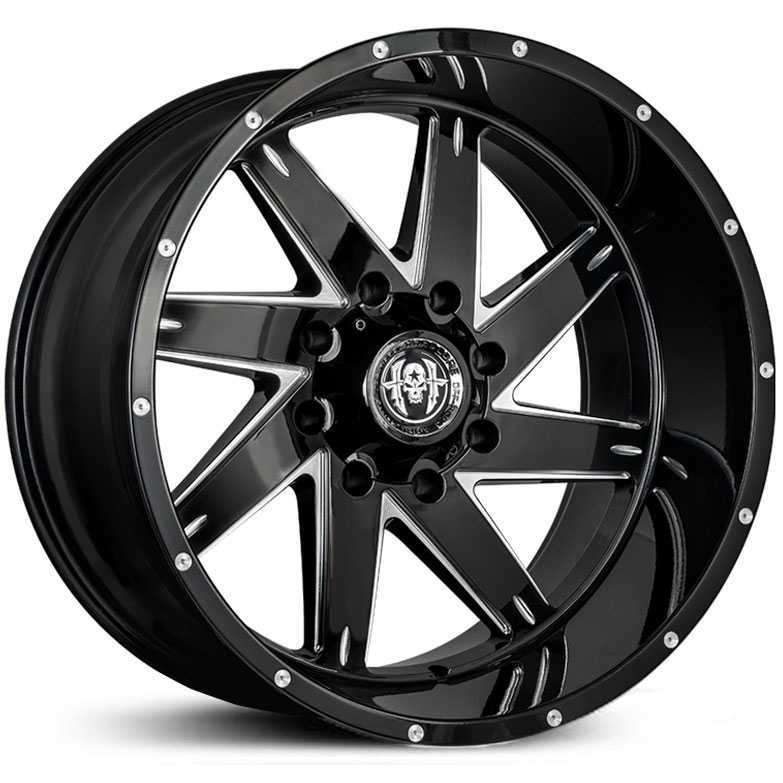 HC08 Brut Gloss Black Milled