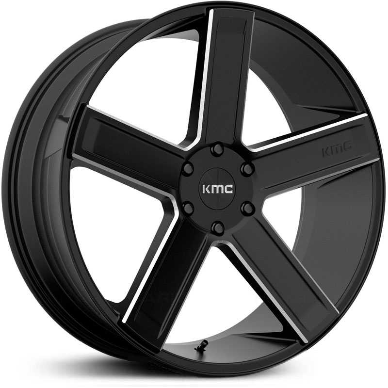 KMC KM702 Duece  Wheels Satin Black Milled