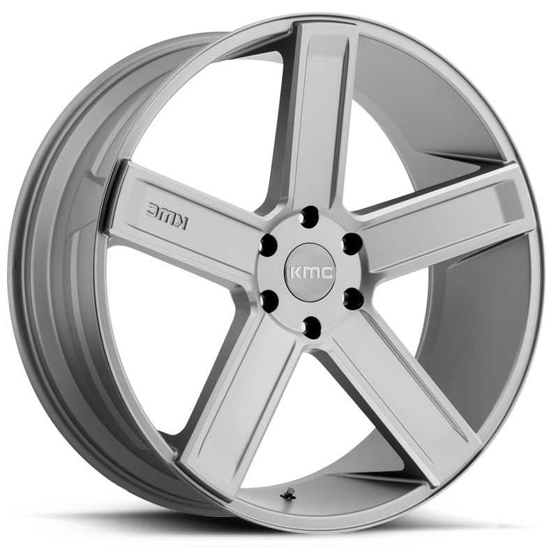 KMC KM702 Duece  Wheels Satin Grey Milled