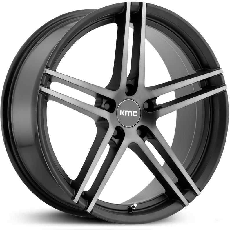 KMC KM703 Monophonic  Wheels Satin Black Titanium w/ Black Face