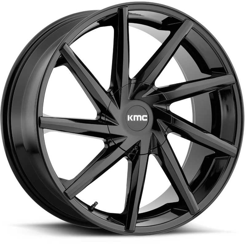 KMC KM705 Burst  Wheels Gloss Black