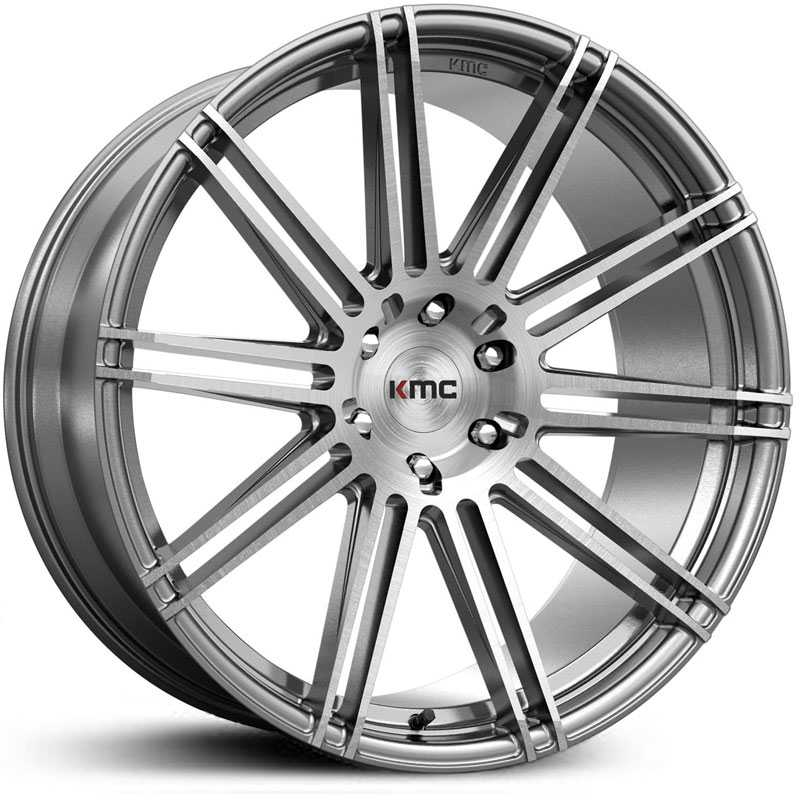 KMC KM707 Channel  Wheels Brushed Silver