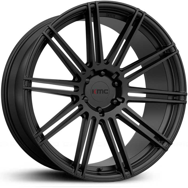 KMC KM707 Channel   Wheels Satin Black