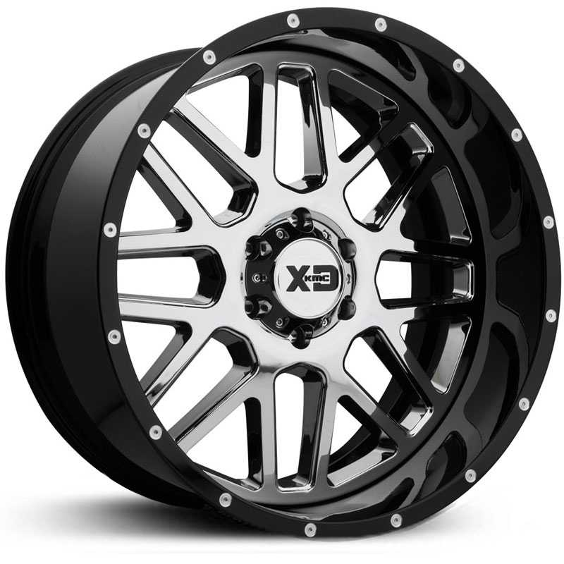 XD Series XD201 Grenade Two-Piece  Wheels Chrome w/ Gloss Black Lip
