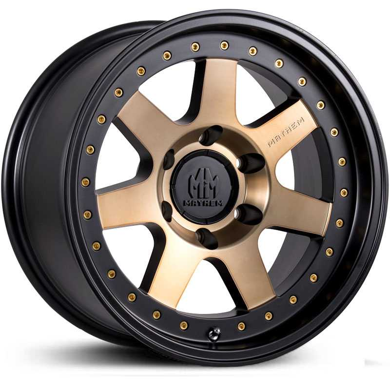 Mayhem Prodigy 8300  Wheels Matte Black Bronze Tint