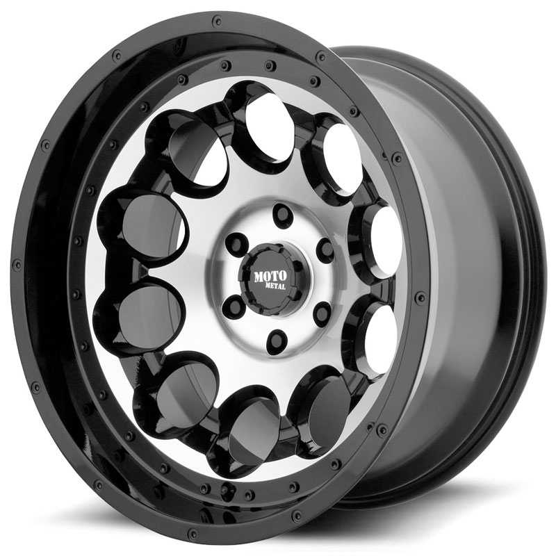 Moto Metal MO990 Rotary Gloss Black Machined