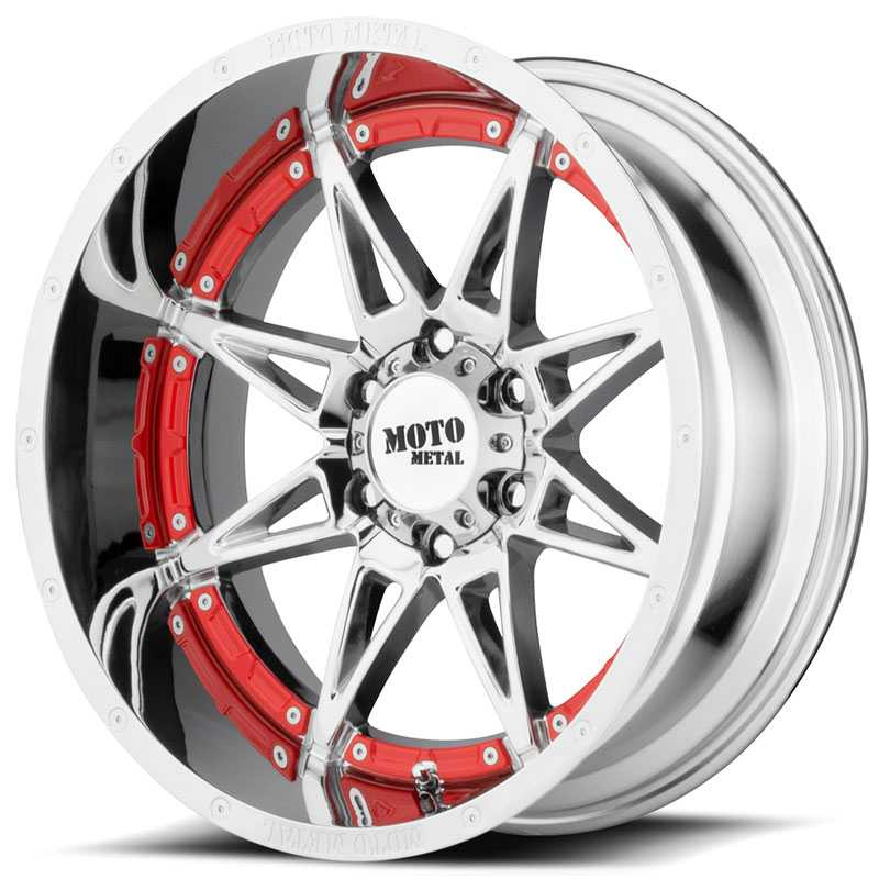 20x12 Moto Metal MO993 Hydra Chrome REV