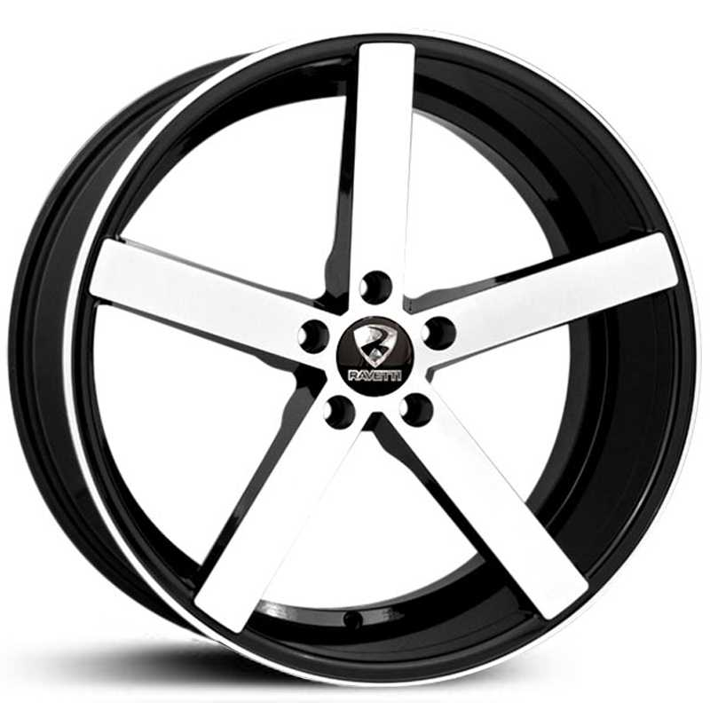 Ravetti Model 1  Wheels Black Brushed Face