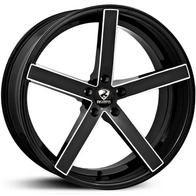 Ravetti Model 1  Wheels Gloss Black Milled Spokes