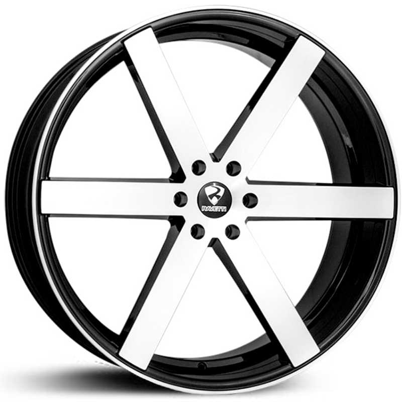 Ravetti Model 3  Wheels Black Machined Face
