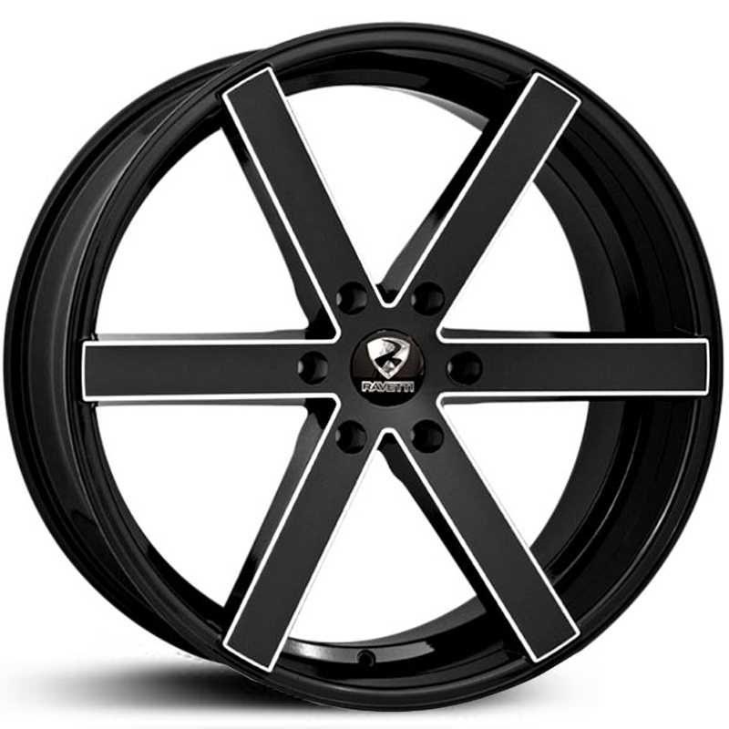 Ravetti Model 3  Wheels Gloss Black Milled