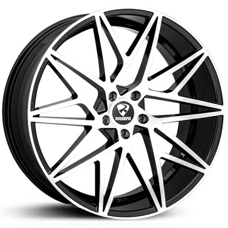 Ravetti Model 5  Wheels Black Machined Face