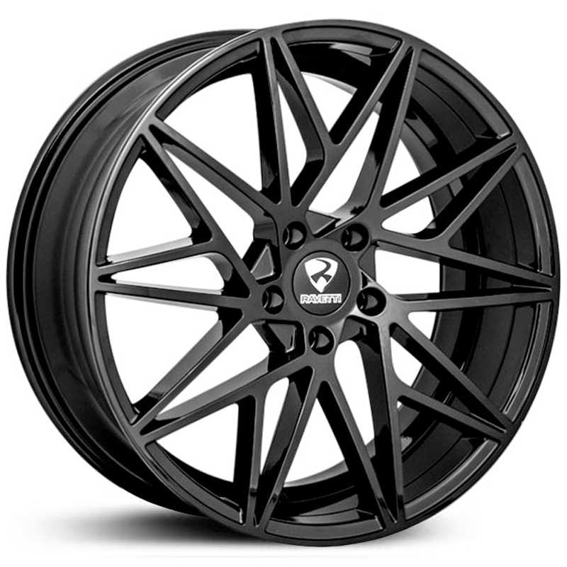 Ravetti Model 5  Wheels Gloss Black