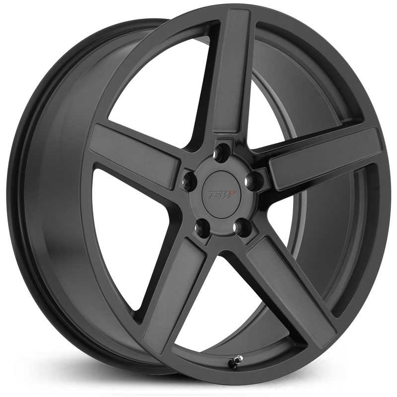 TSW Ascent  Wheels Matte Gunmetal w/ Gloss Black Face