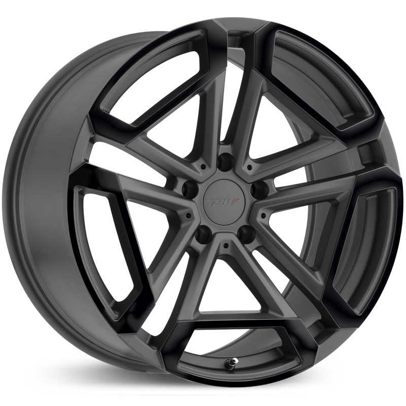 TSW Circuit  Wheels Matte Gunmetal w/ Gloss Black Face