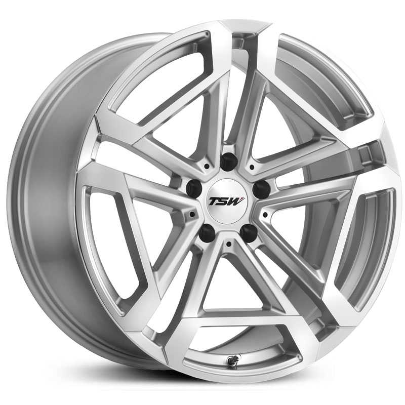 TSW Circuit  Wheels Titanium Silver w/ Mirror Cut Face