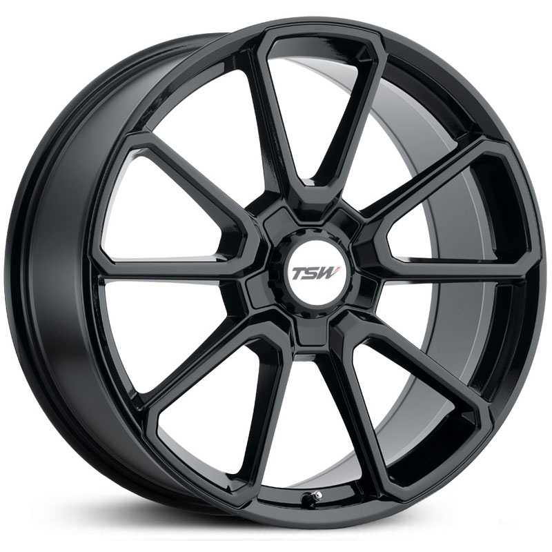 TSW Sonoma  Wheels Gloss Black w/ Black Hex Nut