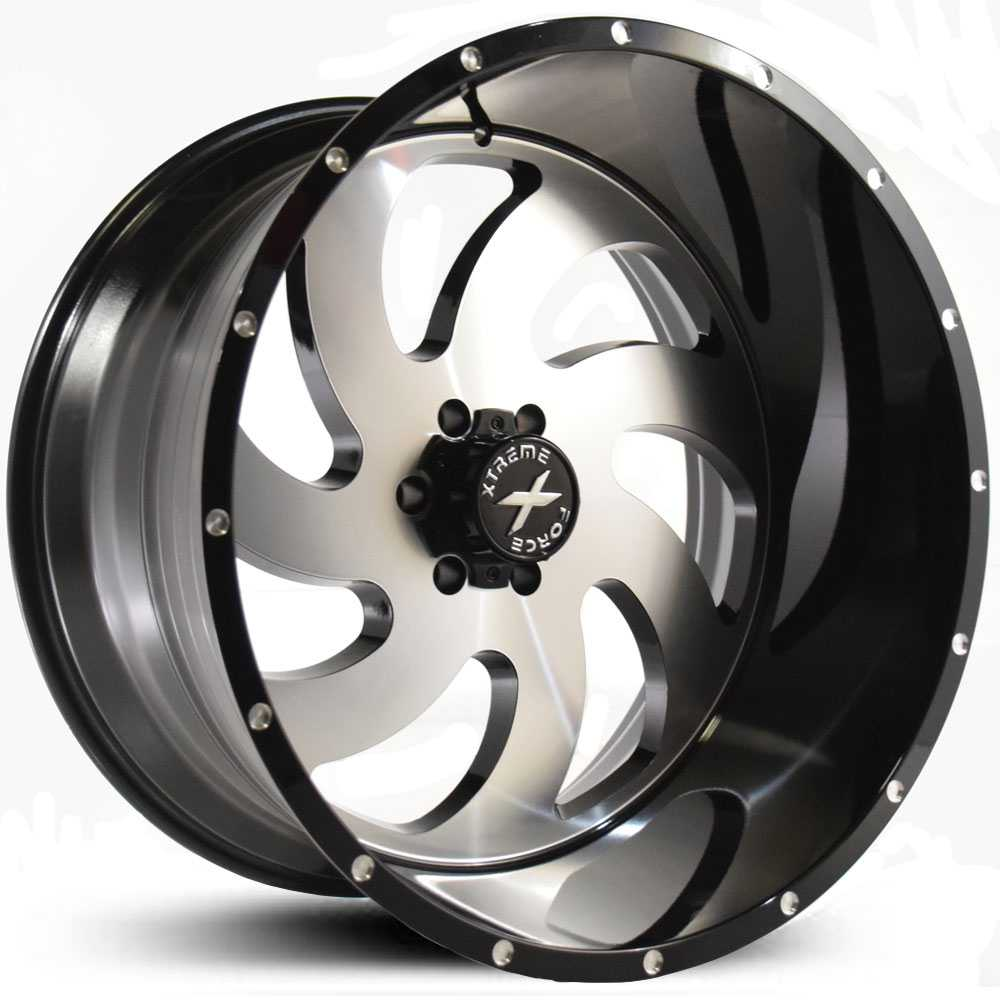 Xtreme Force XF-1  Wheels Black Machined