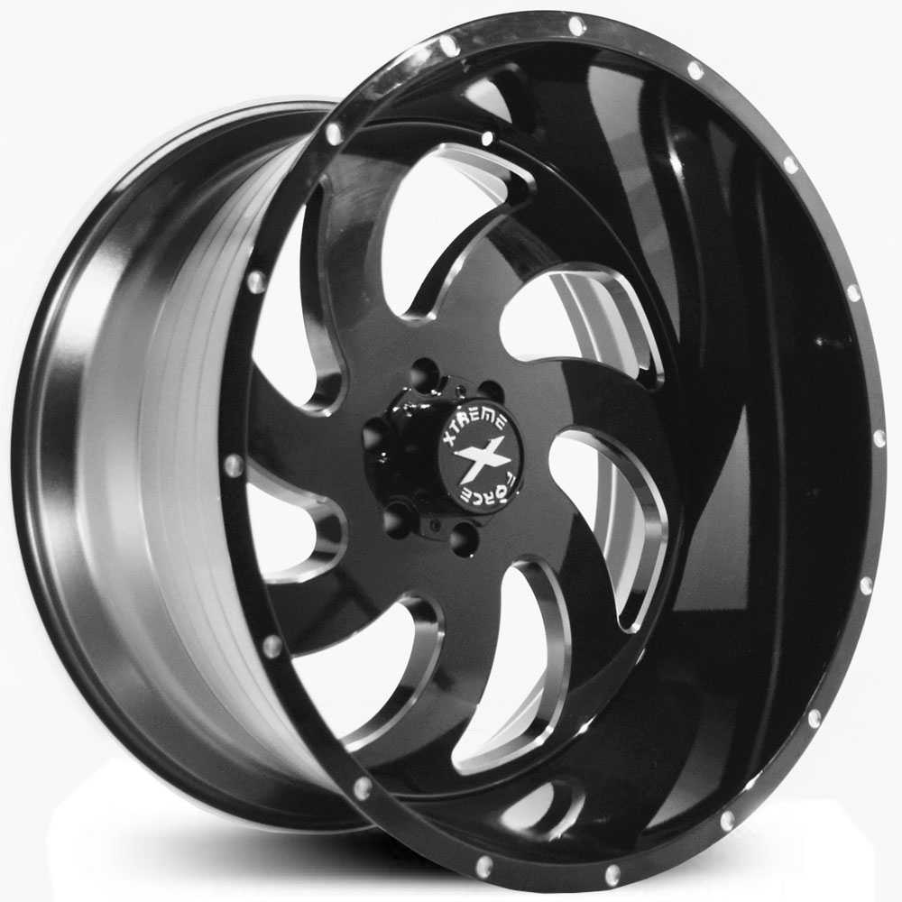 Xtreme Force XF-1  Wheels Black Milled