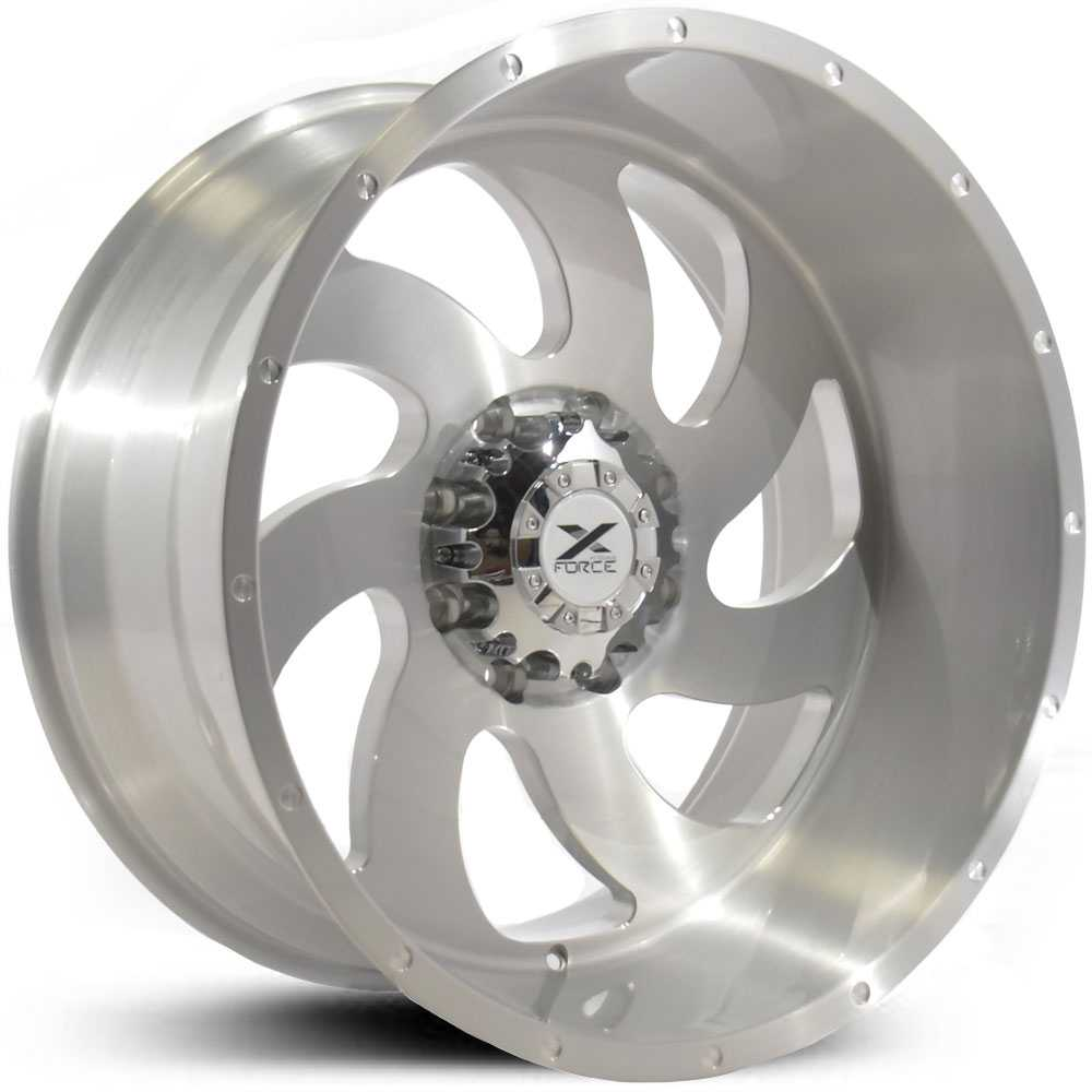 Xtreme Force XF-1  Wheels Silver Full Brushed
