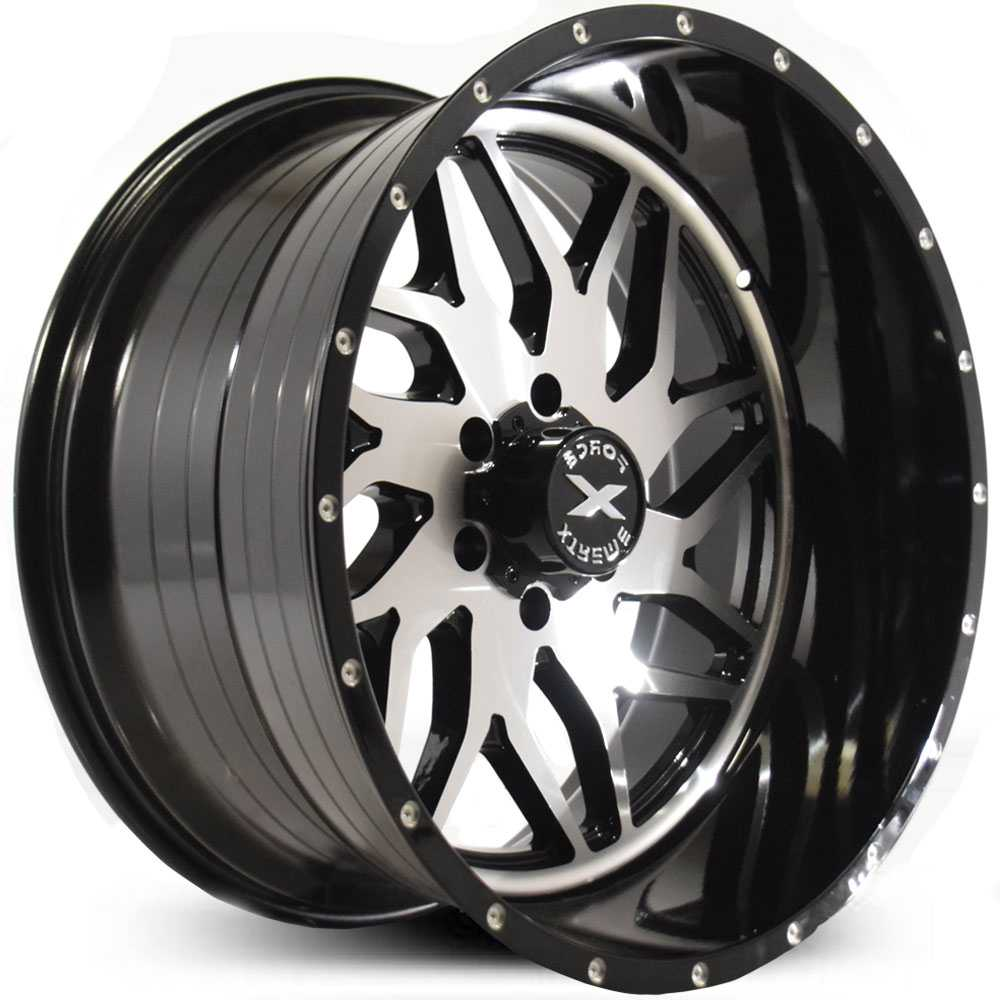 Xtreme Force XF-2  Wheels Black Machined