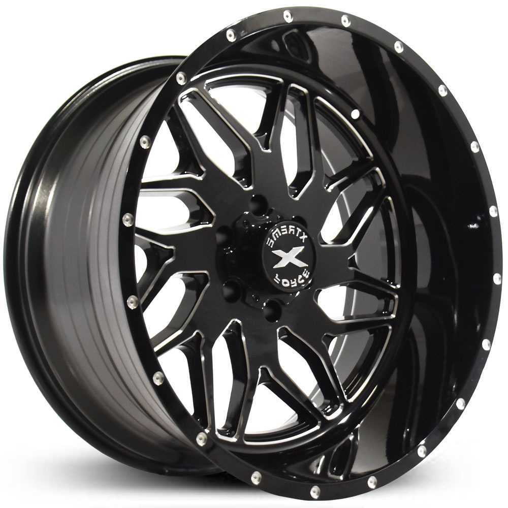 Xtreme Force XF-2  Wheels Black Milled