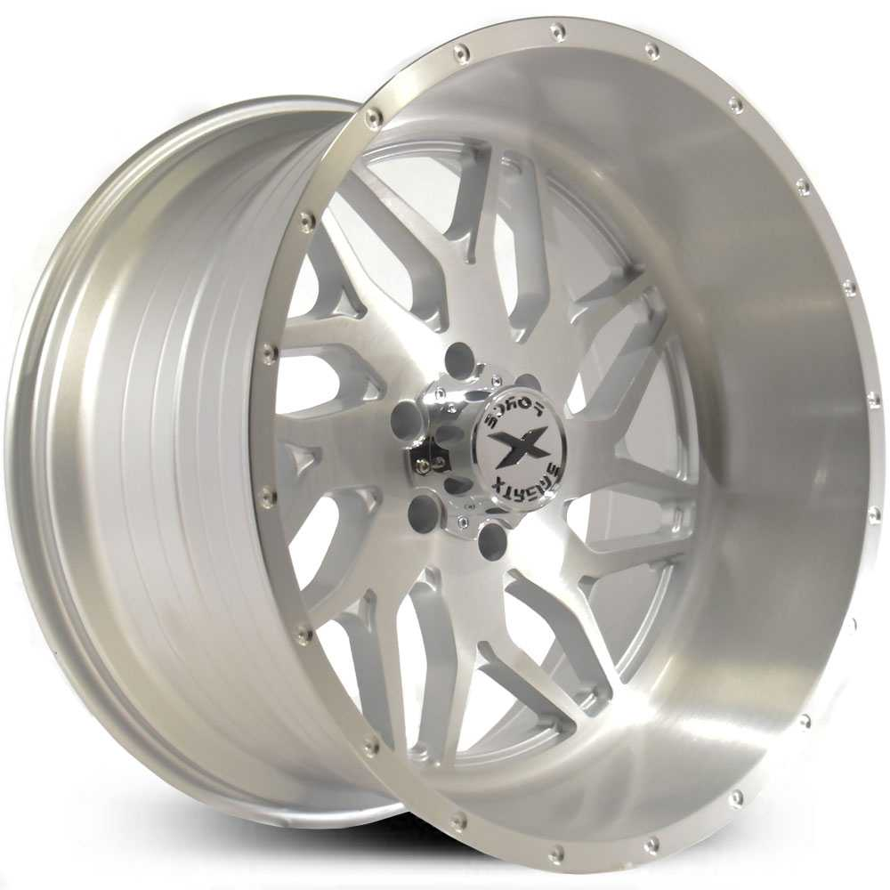 Xtreme Force XF-2  Wheels Silver Full Brushed