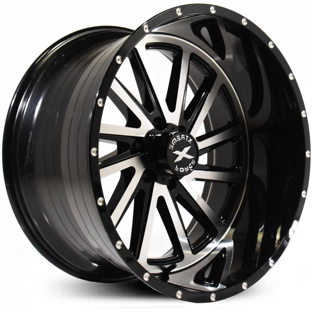 Xtreme Force XF-3  Wheels Black Milled