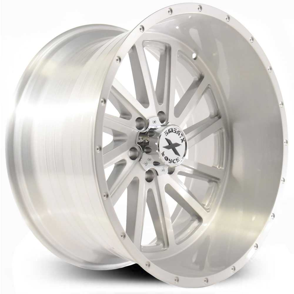 Xtreme Force XF-3  Wheels Silver Full Brushed