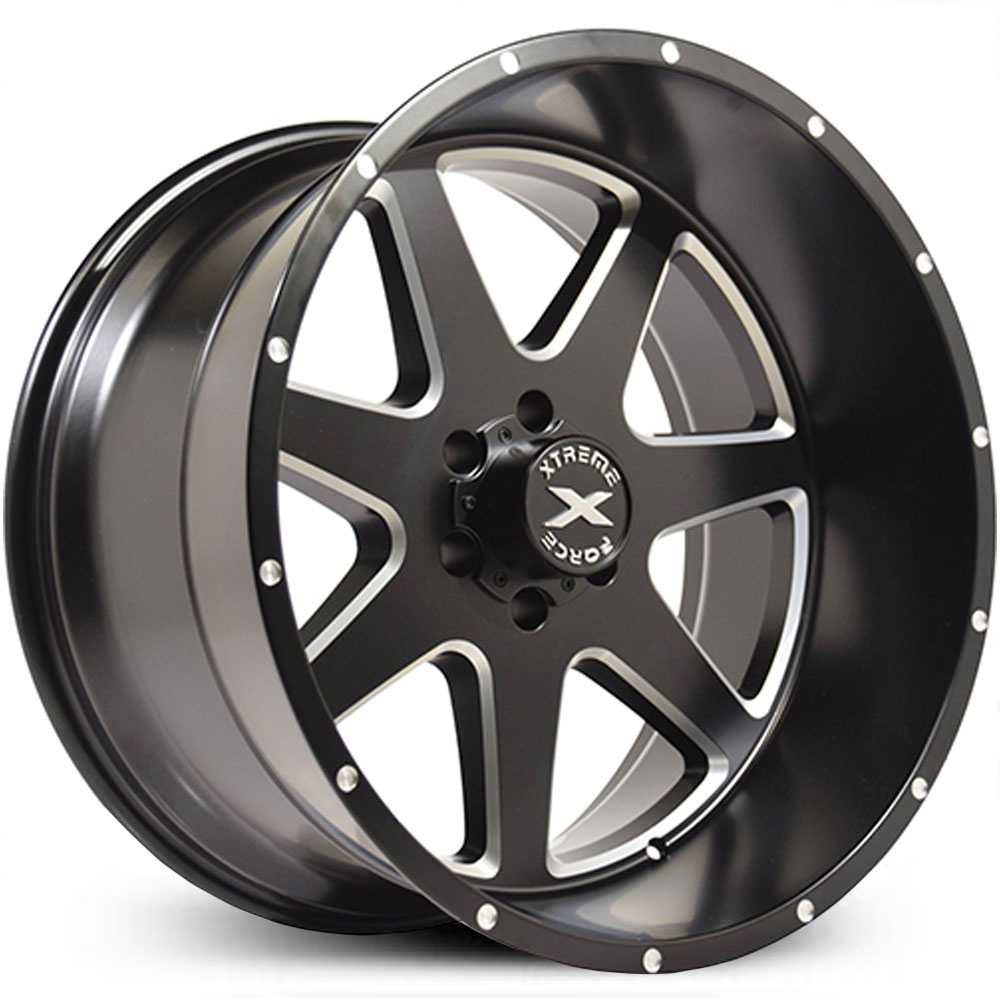 Xtreme Force XF-4  Wheels Black Milled