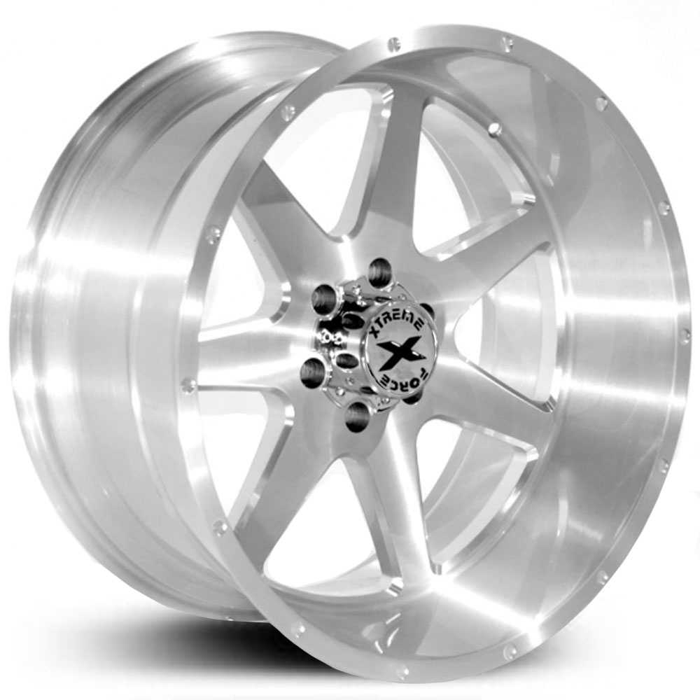 Xtreme Force XF-4  Wheels Silver Full Brushed